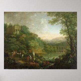 Ideal Landscape, 1776 Poster