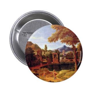 Ideal Landscape By Millet  (Best Quality) Pinback Buttons