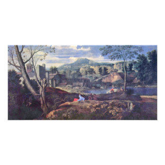Ideal Landscape By Poussin Nicolas (Best Quality) Photo Card