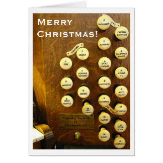 Ideal organ Christmas card