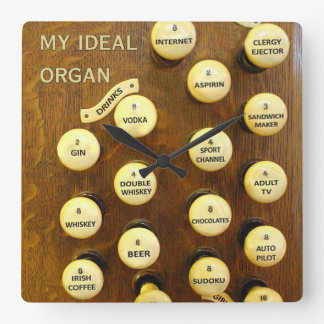 Ideal organ square wall clock