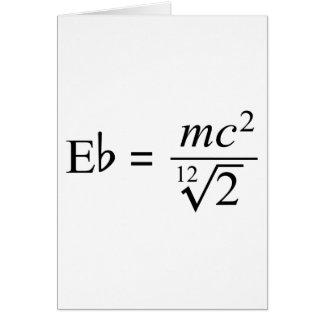¡Ideal para el friki de la música y de la ciencia! Tarjeta De Felicitación