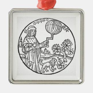 Ideal Portrait of Aristotle (384-322 BC), copy of Metal Ornament