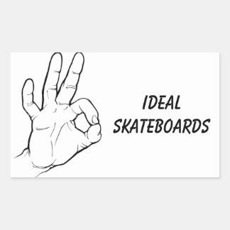 Ideal Skateboard Sticker
