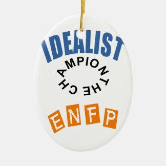 IDEALIST ENFP.PNG CERAMIC ORNAMENT