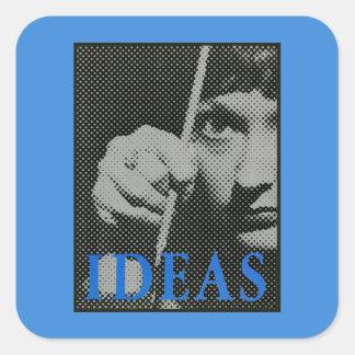Ideas - 1981 promo graphic square sticker
