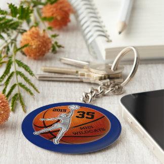 Ideas adaptables del regalo del equipo de llavero redondo tipo pin