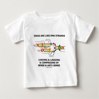 Ideas Are Like DNA Strands Leading & Lagging Baby T-Shirt