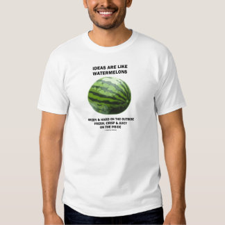 Ideas Are Like Watermelons (Food For Thought) Tee Shirt