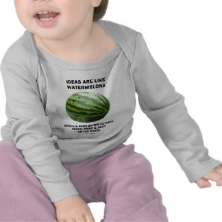 Ideas Are Like Watermelons (Food For Thought) Tee Shirts