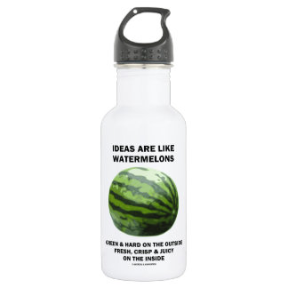 Ideas Are Like Watermelons (Food For Thought) Water Bottle
