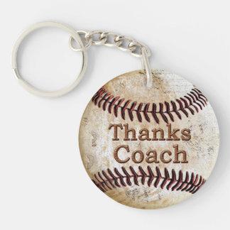 Ideas baratas del regalo del entrenador de béisbol llavero redondo acrílico a doble cara