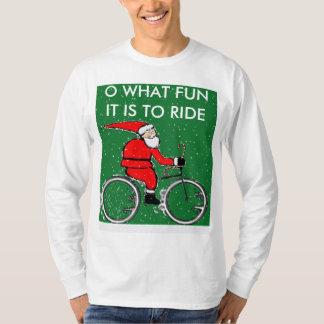 ideas biking del regalo del navidad playera