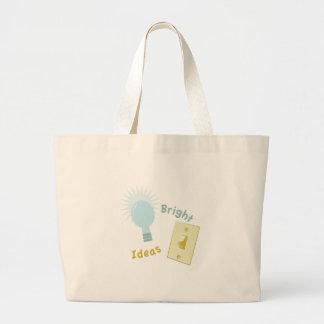 Ideas brillantes bolsa tela grande