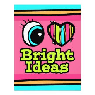 "Ideas brillantes del ojo del amor brillante del folleto 8.5"" x 11"""