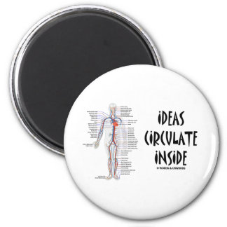 Ideas Circulate Inside (Circulatory System) Refrigerator Magnets