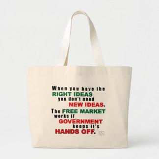 Ideas correctas bolsa tela grande