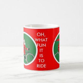ideas de ciclo del regalo del navidad taza de café