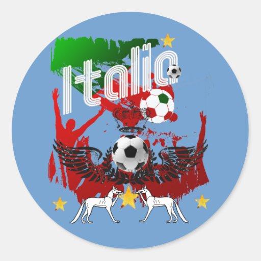 Ideas de las camisetas y de los regalos del fútbol pegatina redonda