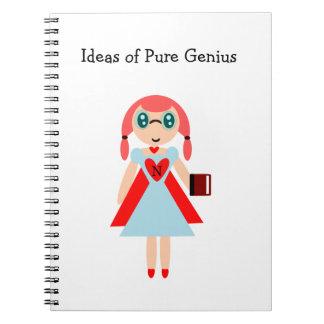 Ideas del cuaderno estupendo del empollón del geni