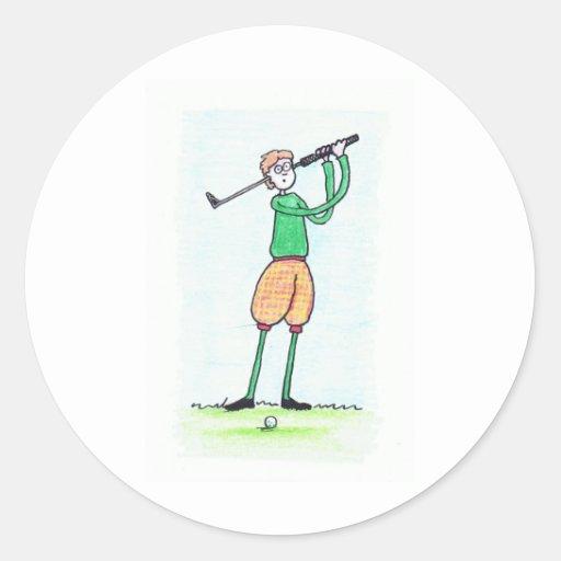 ideas del golf pegatina redonda