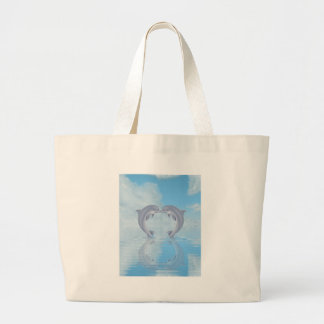 Ideas del regalo de los amantes del delfín bolsa tela grande