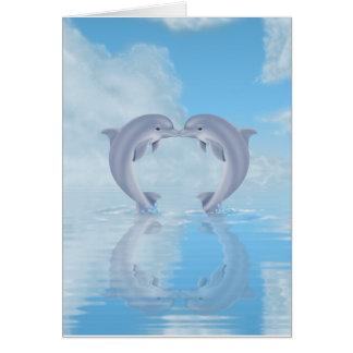 Ideas del regalo de los amantes del delfín tarjeta pequeña