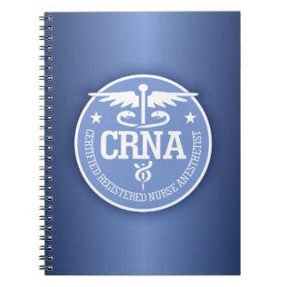 Ideas del regalo del caduceo CRNA Libro De Apuntes Con Espiral