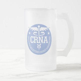 Ideas del regalo del caduceo CRNA Taza Cristal Mate