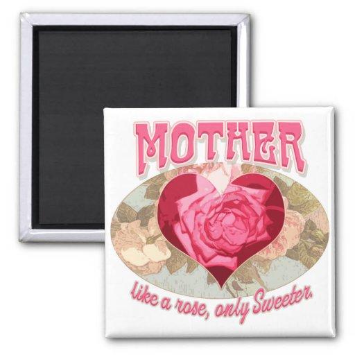 Ideas del regalo del día de madre para la mamá más imán cuadrado