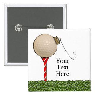 Ideas del regalo del golf del navidad pin cuadrada 5 cm