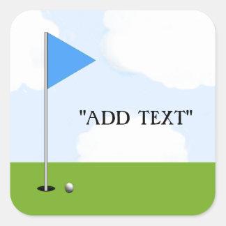 Ideas del regalo del golf pegatina cuadrada