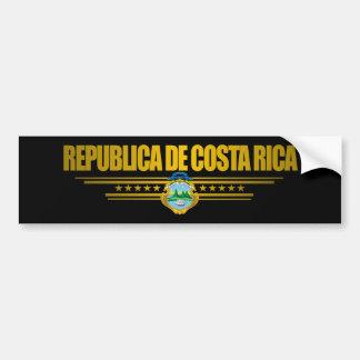 """""""Ideas del regalo del orgullo de Costa Rica"""" Pegatina Para Auto"""