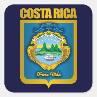 Ideas del regalo del oro de Costa Rica Colcomanias Cuadradases