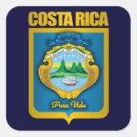"""Ideas del regalo del oro de Costa Rica"" Pegatina Cuadrada"