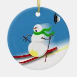 Ideas del regalo del tema del esquí ornamento para arbol de navidad
