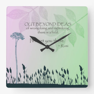 Ideas del zen reloj cuadrado