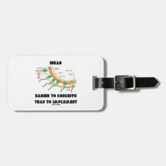 Ideas Easier To Conceive Than To Implement Bag Tag