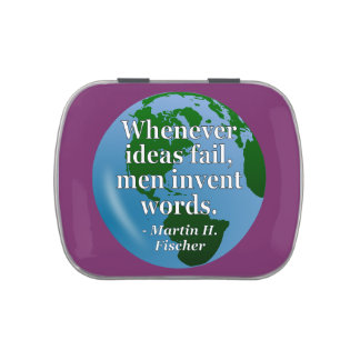 Ideas fail words Quote. Globe Candy Tins