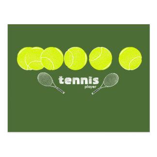 ideas for a tennis player postcard