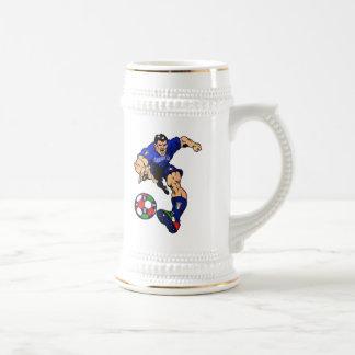 Ideas italianas del regalo del fútbol del fútbol jarra de cerveza