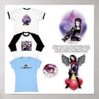 Ideas para el chica rojo del gótico póster