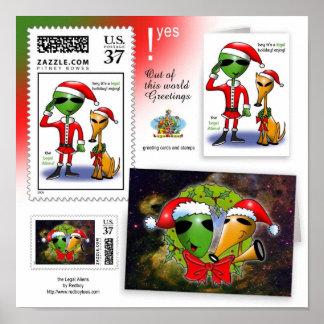 Ideas para las tarjetas de Navidad Póster