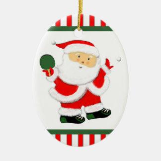 ideas personalizadas del regalo del navidad del adorno navideño ovalado de cerámica