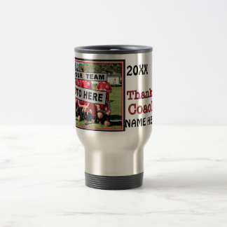 Ideas personalizadas del regalo para el fútbol de taza de viaje de acero inoxidable