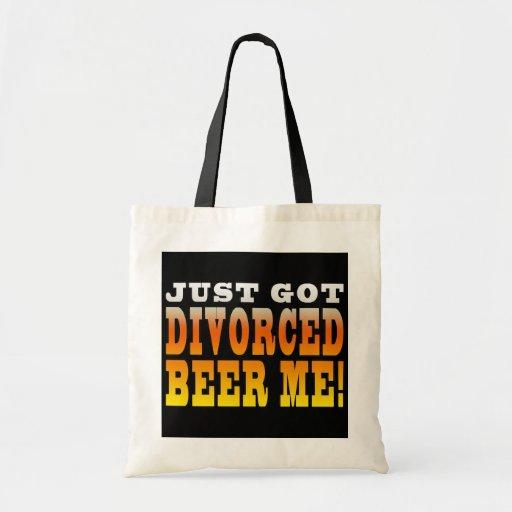 Ideas positivas del regalo del divorcio: Cerveza d Bolsas Lienzo