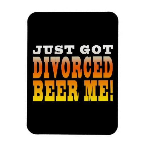Ideas positivas del regalo del divorcio: Cerveza d Imanes Flexibles