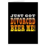 Ideas positivas del regalo del divorcio: Cerveza d Felicitaciones