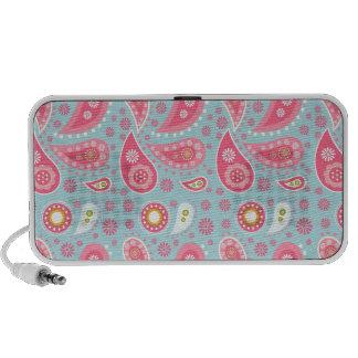 Ideas rosadas bonitas personalizadas del regalo altavoz de viaje