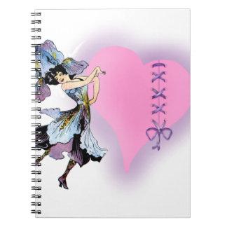 Ideas rosadas bonitas personalizadas del regalo pa libretas espirales